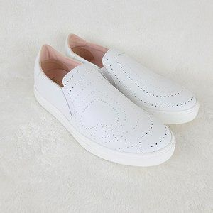Kate Spade Azores White Leather Slip On Shoes 8